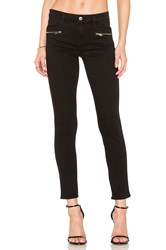 7 For All Mankind The Zip Front Ankle Skinny Black