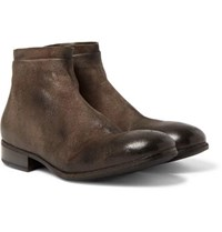 Marsell Washed Suede Chelsea Boots Brown