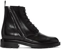 Saint Laurent Black Short Zip Army Boots