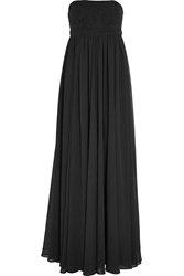 Balmain Crocheted Cotton And Georgette Gown