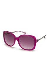 M Missoni Women's Oversized Acetate Frame Sunglasses Purple