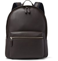 Dunhill Hampstead Full Grain Leather Backpack Dark Brown