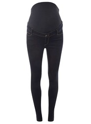 Dorothy Perkins Maternity 'Forever Fit' Indigo For Pregnancy And Beyond Convertible Super Skinny Jeans Blue