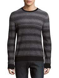 Saks Fifth Avenue Striped Cashmere Sweater Charcoal