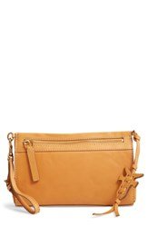 Frye Carson Leather Wristlet Clutch Orange Sunrise