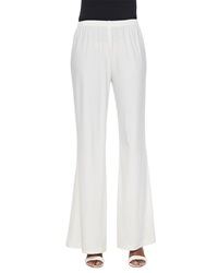 Caroline Rose Stretch Knit Wide Leg Pants Petite