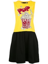 Love Moschino Popcorn Print Dress Yellow Orange