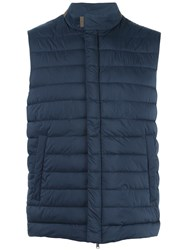 Herno Classic Gilets Blue