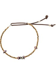 Catherine Michiels Bohemian Glass Beaded Bracelet Multicolour
