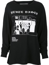 Enfants Riches Deprimes Disco Print Sweatshirt Black