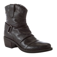 John Lewis Kansas Western Leather Ankle Boots Black