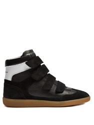 Isabel Marant Bilsy Concealed Wedge Leather Trainers Black Multi
