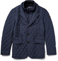Hackett Quilted Shell Jacket Blue