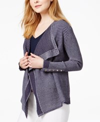Tommy Hilfiger Ribbed Flyaway Cardigan Only At Macy's Navy