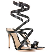 Gianvito Rossi Opera Leather Sandals Black