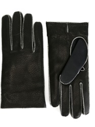 Maison Martin Margiela Maison Margiela Stitch Trim Gloves Black