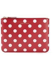 Comme Des Garcons Wallet Polka Dot Coin Purse Red