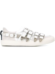 Toga Pulla Buckled Sneakers White