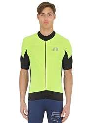 Newline Stretch Mesh Zip Up Cycling T Shirt