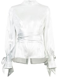 Rodebjer Bow Back Blouse Metallic