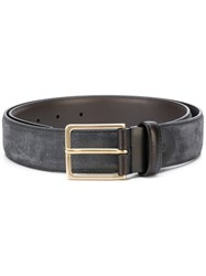 Canali Buckle Belt Men Leather 100 Grey