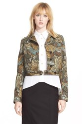 Marc By Marc Jacobs 'Acanthus' Army Cotton Military Jacket Brown
