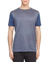 Boss T Tribel Micro Check Color Block Tee Navy