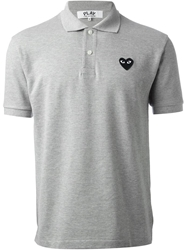 Comme Des Garcons Play 'Play' Polo Shirt Grey