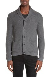 Rag And Bone Men's Standard Issue 'Avery' Shawl Collar Cardigan Charcoal