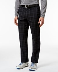 Greg Norman For Tasso Elba Men's Slim Fit Tech Performance Plaid Pants Only At Macy's