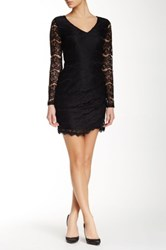 Fire Lace Sheath Dress Black