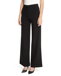 Theory Terena Admiral Crepe Tailored Wide Leg Pants Black