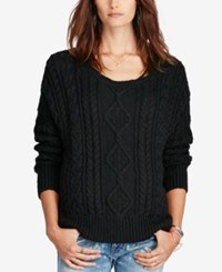 Denim And Supply Ralph Lauren Cable Knit Sweater Black
