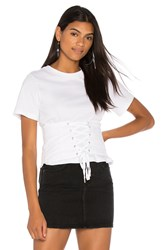 Endless Rose Corset Top White