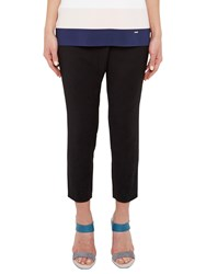 Ted Baker Colour By Numbers Tekla Cross Front Semi Fitted Trousers Black