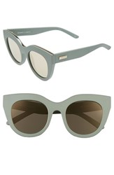 Le Specs Women's Air Heart 51Mm Sunglasses Matte Olive Gold Matte Olive Gold