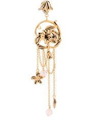 Alberta Ferretti Entwined Flower Drop Earrings Metallic
