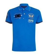 La Martina Slim Fit Pique Polo Shirt Male Blue