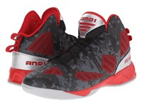 And 1 Xcelerate 2 Black Formula 1 Red Silver Men's Basketball Shoes