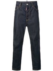 Dsquared2 High Rise Tapered Jeans Blue
