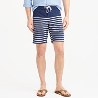 J.Crew 9' Board Short In Nautical Engineered Stripe