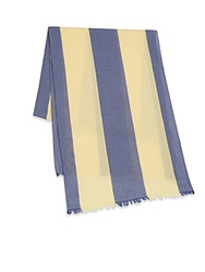 Gant Awning Stripe Cotton Scarf Yellow Blue