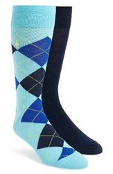 Polo Ralph Lauren Men's Cotton Blend Socks Aqua Black