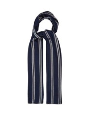 Denis Colomb Georgia Striped Silk Scarf Blue