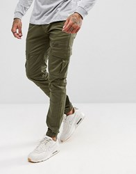 Voi Jeans Cuffed Cargo Joggers In Tapered Fit Green