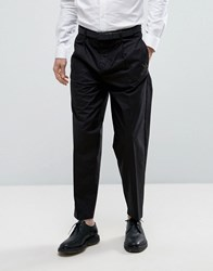 Selected Homme Tapered Cotton Trouser Black