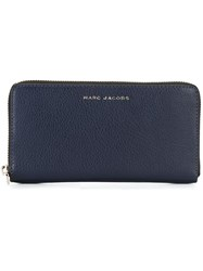 Marc Jacobs 'Wingman' Continental Wallet Blue