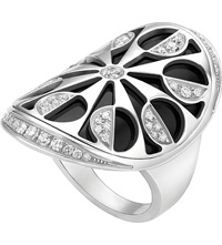 Bulgari Intarsio 18Ct White Gold And Black Onyx Ring