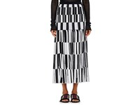 Proenza Schouler Women's Jacquard Knife Pleated Long Skirt Black