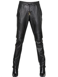 Balmain Quilted Nappa Leather Trousers